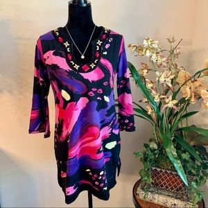 JOYOUS & FREE I  Colorful Embellished Tunic